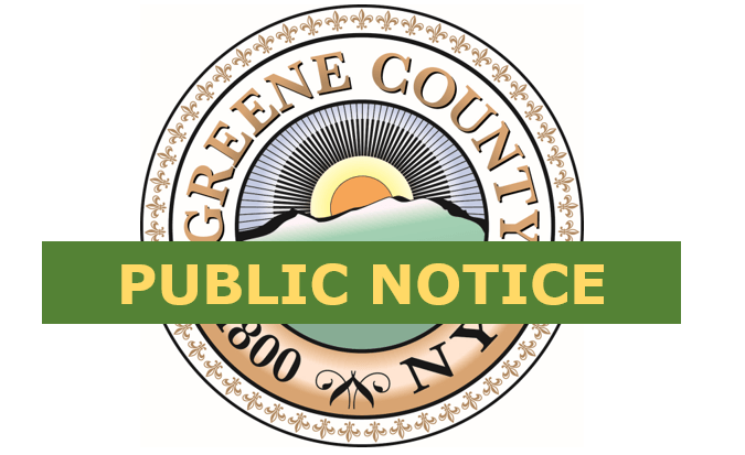 Notice of Public Hearing – Greene County AFSCME, AFL-CIO, Council 66 CBA