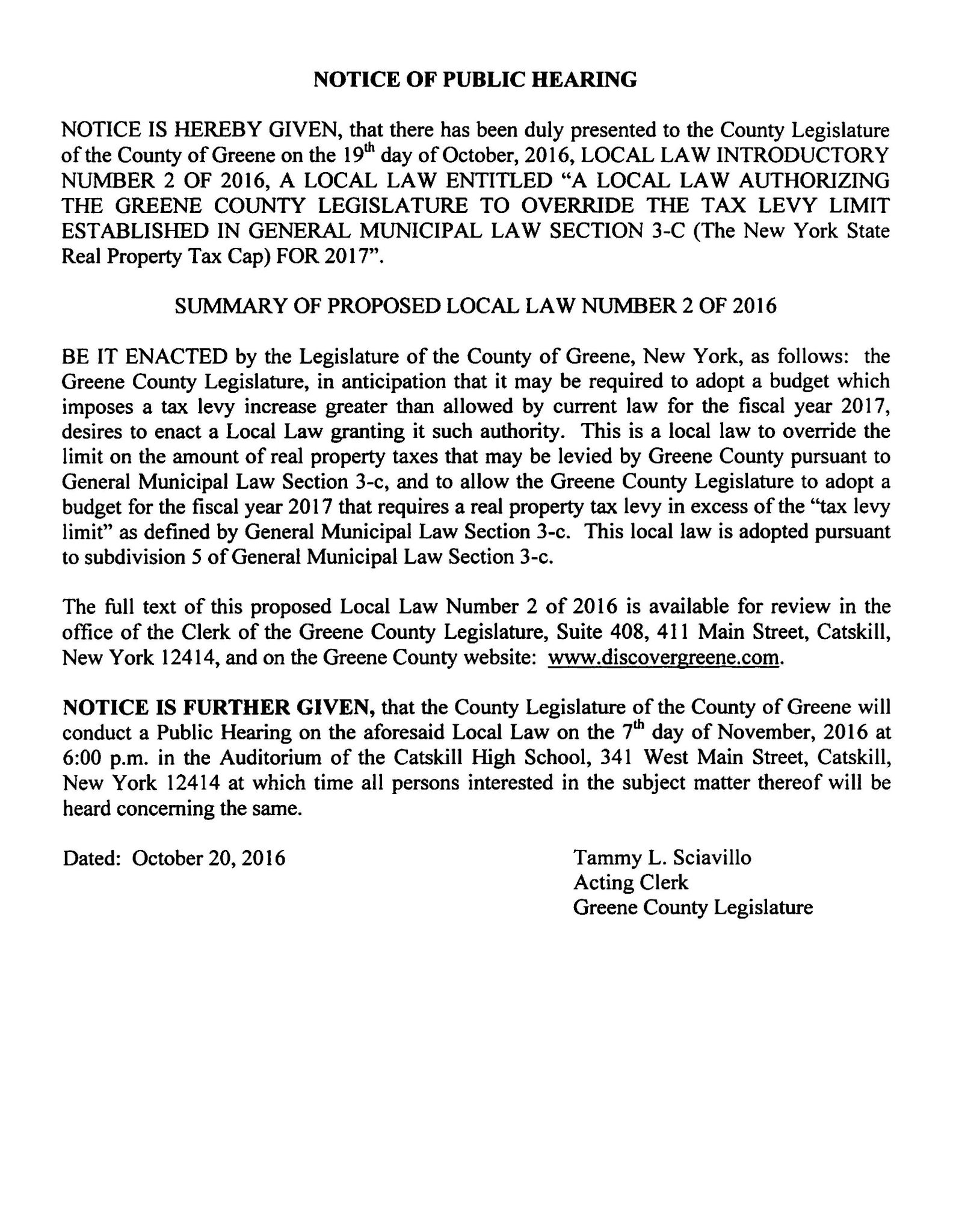 notice-of-public-hearing-local-law-no-2-of-2016-override-tax-levy