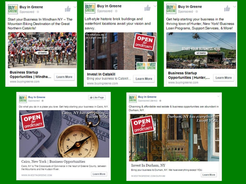 Invest In Greene Website Social Media Advertisitng