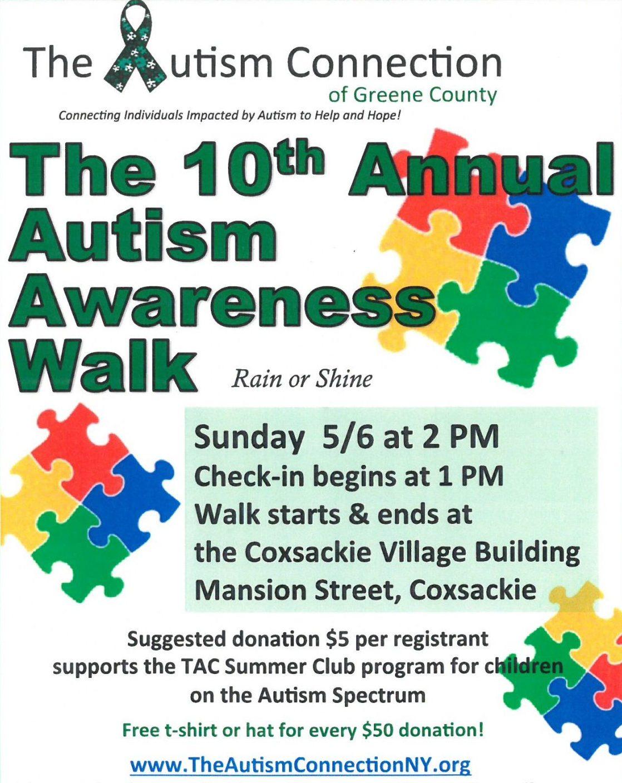 10th Annual Autism Awareness Walk - 5/6/18