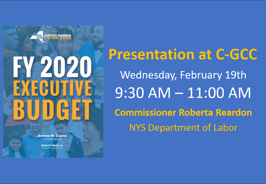 NYS 2020 State of the State & Budget Presentation at C-GCC