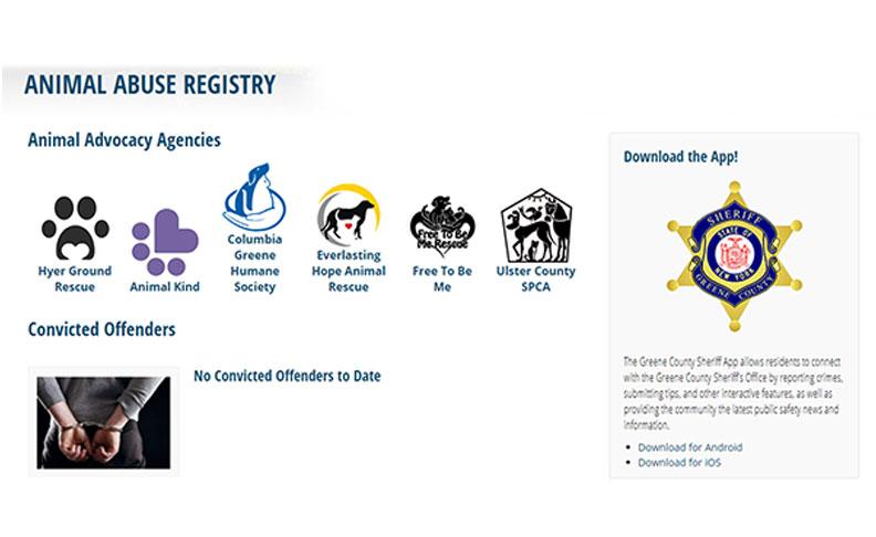 Greene County Establishes Animal Abuse Registry